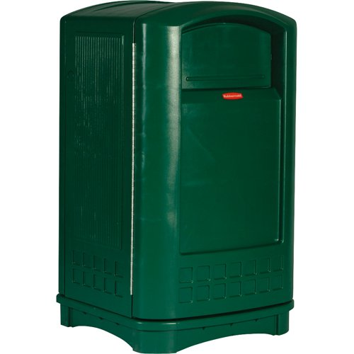 Rubbermaid Commercial Plaza Trash Can with Swing Doors, 50 Gallon, Green, FG396400DGRN by Rubbermaid Commercial Products