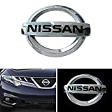 Coolsport Car Front Grille Emblem for 2013-2018 Nissan Altima Murano Rogue Maxima Auto Vehicle Chrome ABS Plastic Head Grill Badge Sticker (OEM 62890 1JA0A)