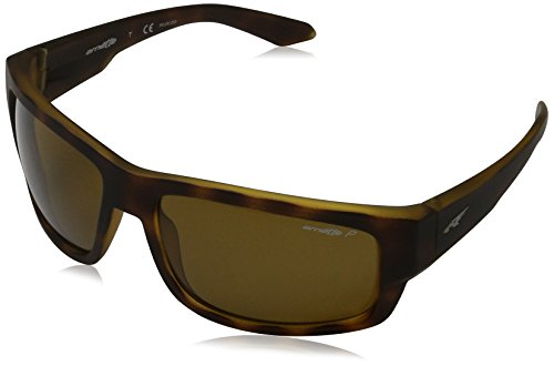 Arnette Men's Grifter Polarized Rectangular Sunglasses, Fuzzy Havana, 62 - Arnet Sunglasses