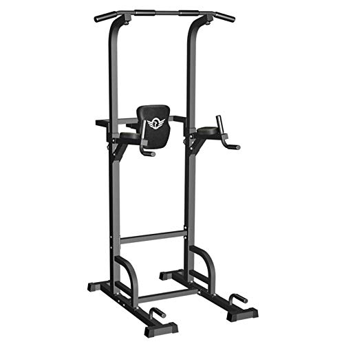 Power Tower Workout Dip Station Pull Up Gym Training Equipment Stretch Machine