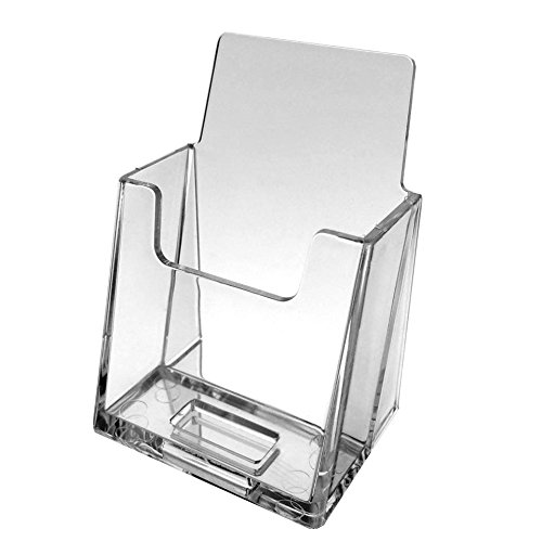 Source One 6 Pack Premium Vertical Clear Business Card Holder, Slantie (S1-vertbc-slant6) by SOURCEONE.ORG