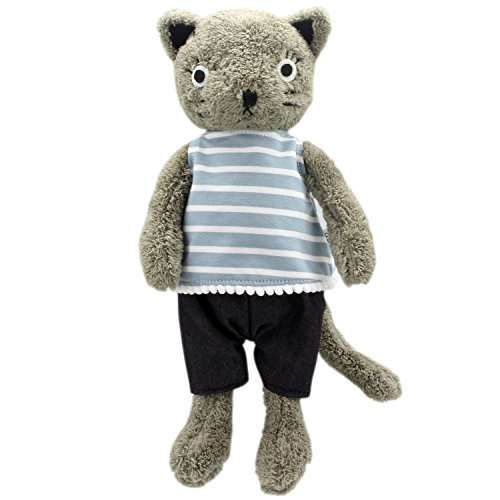 JIARU Stuffed Animals Cats Toys Plush Dressed Dolls with Removable Clothes (Grey-1, 20 Inch)