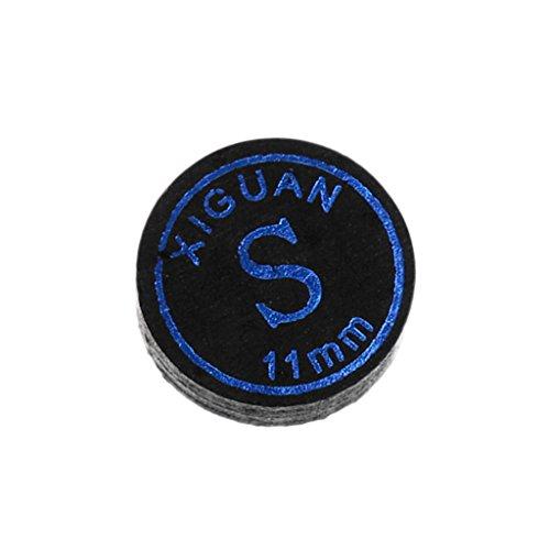 CUTICATE 11mm/13mm Black Pool Cue Tips, Billiard Snooker Stick Tips Repair Kit - Soft/Medium/Hard - Multiple Layer Artificial Pigskin - Black, 11mm Soft