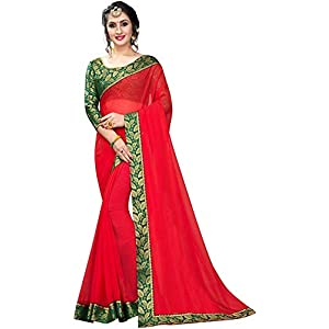 Floral Trendz Women's Chiffon Saree With Blouse Piece