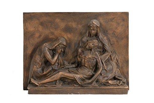 Salvadori Arte, Bronze low relief sculpture. Holy art. Lost wax casting.