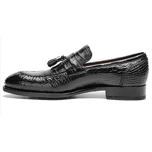 E Uomo Business Moda Scarpe Traspirante Scarpe Testa Tonda alla alla Casual da Pigro Black da Moda Custom in Made Pelle anU4q5Yw