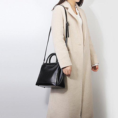 Sac cuir portés Sac épaule portés LF 8958 Sac main main Noir Sac à femme Girl fashion bandoulière E en Z6aqx8wtn