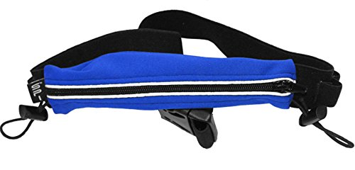- SPIbelt Endurance Race Belt with Race Bib Toggles and Reflective Trim (Blue, One Size)
