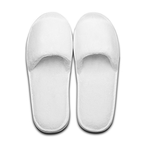 Deluxe Spa Open Party Pairs of Pairs and White Toe Hotel Travel 5 White for Guest echoapple Slippers 5 cqWFwtnxH