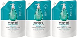 Method Gel Hand Wash Refill Pouch, Waterfall, 34oz, 3pk