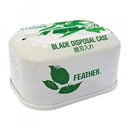 Feather Blade Tin Disposal Case Razor Blade Disposal