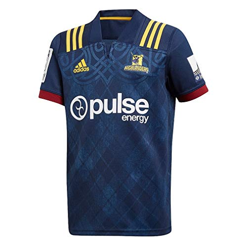 (adidas Highlanders Home Rugby Jersey, Large)