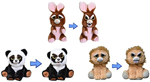 feisty-pets-by-william-mark-trio-of-troublemakers-bunny-panda-and-lion-adorable-8-plush-stuffed-anim