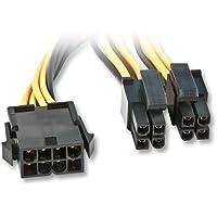 Lindy 33163 Cordon prolongateur d'alimentation Carte mère 8 pôles EPS12V / eATX / BTX 12V, 0,4 mètre, noir