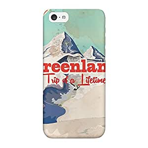 Greenland Full Wrap High Quality 3D Printed Case for iPhone 5C by Nick Greenaway + FREE Crystal Clear Screen Protector