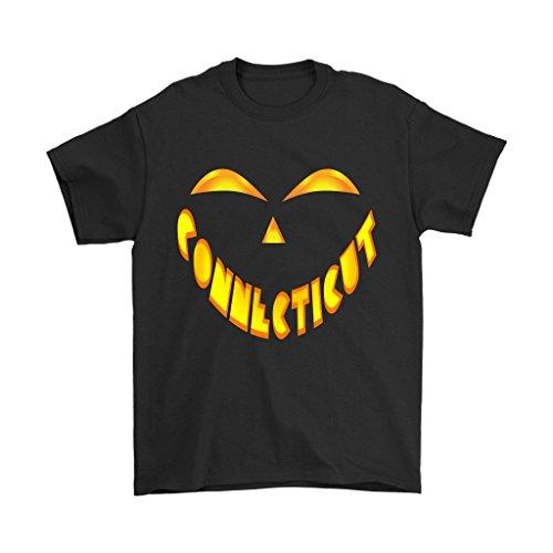 Connecticut Jack O' Lantern Pumpkin Face Halloween Costume Shirt - Men's Sized Tee, 3XL