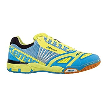 005fa57a88d Kempa Hurricane Handball Shoes – Cyan/Fluorescent Yellow/Black cyan/fluo  gelb/