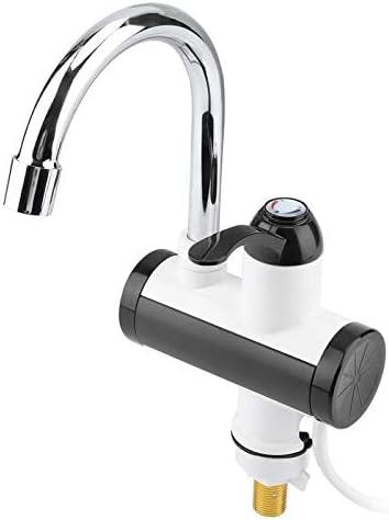電気タンクレス給湯タップインスタント台所用温水暖房暖房の蛇口の瞬間給湯と浴室ツール (Color : Silver)
