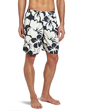 Quiksilver Waterman Men's Bombora Volley Floral Print Trunk, Grey, Small