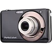 KINGEAR V600 2.7 Inch TFT 15MP 1280 X 720 HD Digital Video Camera With 5X Optical Zoom and Anti-shake Smile Capture (Black)