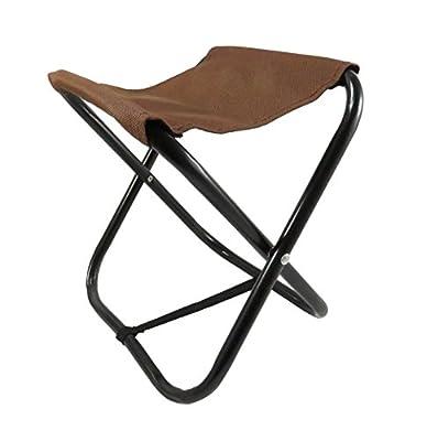 "Mini Folding Chair Stool Beach Camping Traveling Brown 10"" x 9 1/2"" (Weight Capacity 110 lb)"