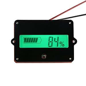 DROK DC8-63V 12V/24V/36V/48V LCD Lead-acid Battery Capacity Tester Gauge Panel Battery Statue Indicator Monitor Electric Quantity Detector Reader