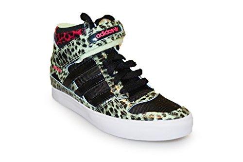Adidas scarpe da ginnastica alte da donna stampa leopardata - nero verde e rosa (rare)