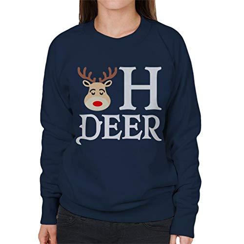 Navy Deer Reindeer Oh Coto7 Sweatshirt Women's Blue 5CqXgnfxw