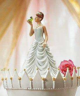 Frog Prince Cake - Princess Bride Kissing Frog Prince Cake Topper Style 8651