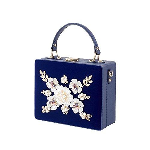 Mesdames Fait Main Perlés Mode Blue Sacs à D'artisanat Sacs Soirée Sacs Main Europe De Sacs élégance rawqHxUr