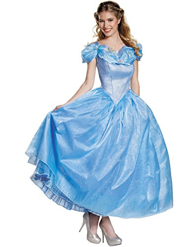 Disney Women's Cinderella Movie Adult Prestige Costume, Blue, -