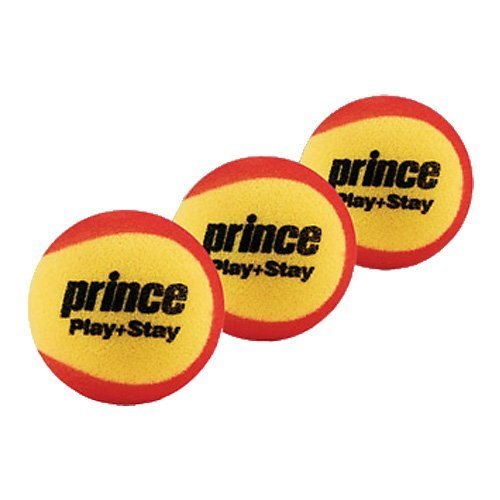 Prince Play & Stay Stage 3 Foam Tennis Balls (3 Balls per Pack)