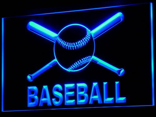 ADV PRO i580-b Baseball Bat Sport Shop Bar NR Neon Light (Baseball Neon Light Sign)