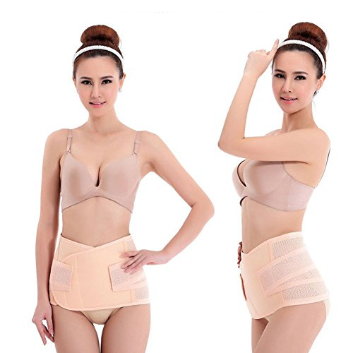 Breathable Postpartum Postnatal Recoery Materinty Support Belt Post Pregnancy After Birth,Pregnancy Belly Band Abdominal Binder,Beige,Size XXL ()