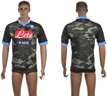 Tony S Outdoors 2013 14 Season Serie Napoli Third Kit Men S Football Shirt Soccer Uniform Football Jersey Army Green L Amazon Co Uk Sports Outdoors