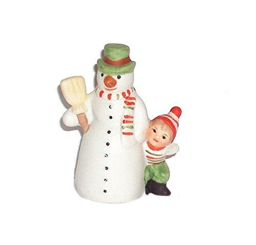 1986 Geo Z Lefton 05829 Colonial Village Brian and Friend Snowman -