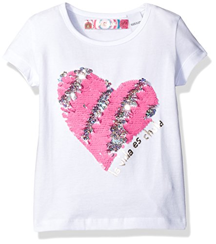 Desigual Toddler Girls' Ts_chivite T-Shirt, White, 5/6 by Desigual