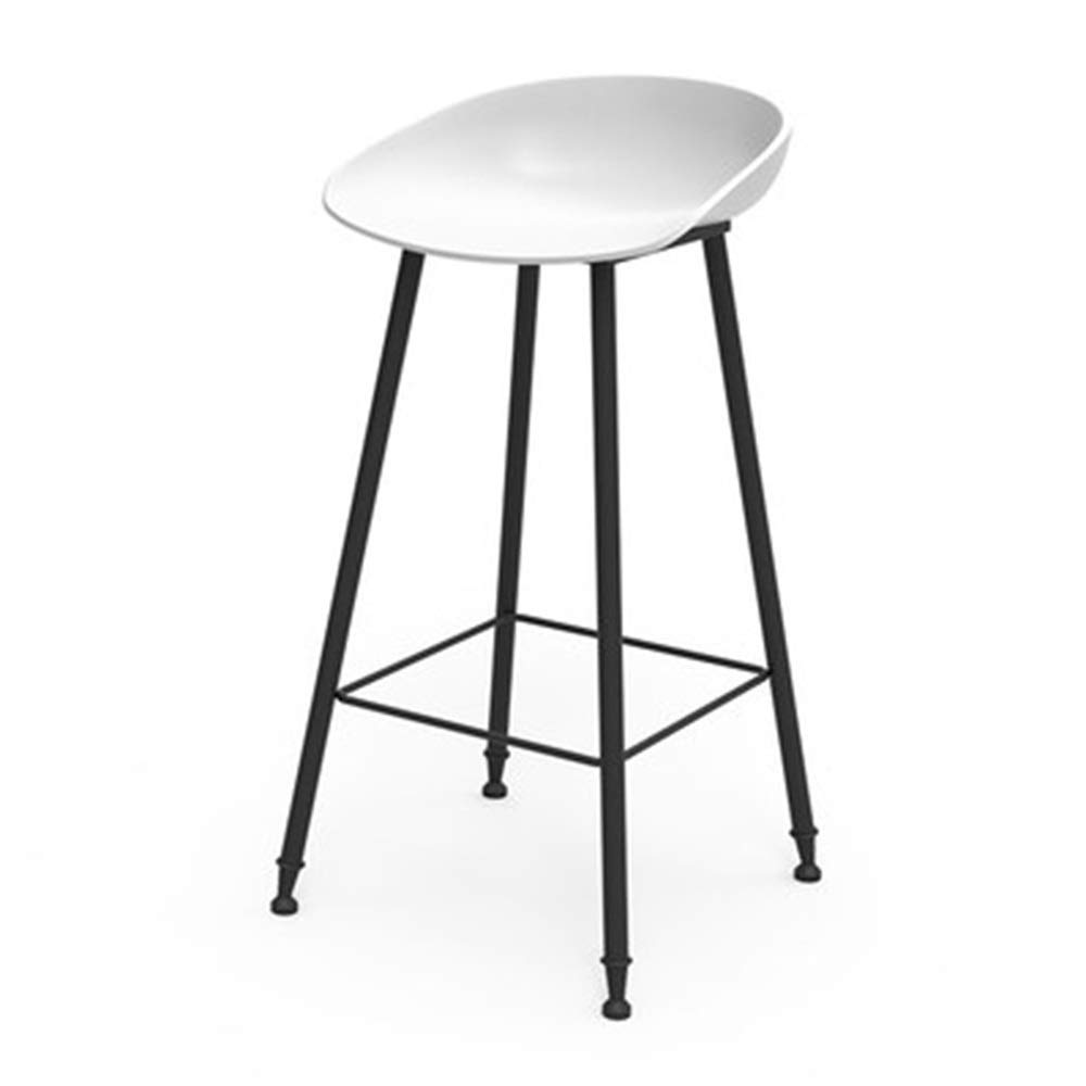 I Bar Chair Iron Art High Stool Simple Creative Reception Chair Household Dining Chair 9 colors 1 Size (color   F)