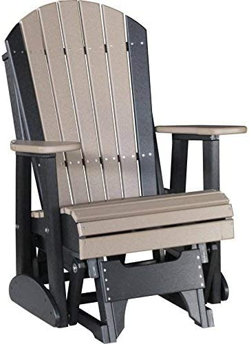 LuxCraft Recycled Plastic 2 Adirondack Glider Chair – Lead Time to Ship 4 Weeks