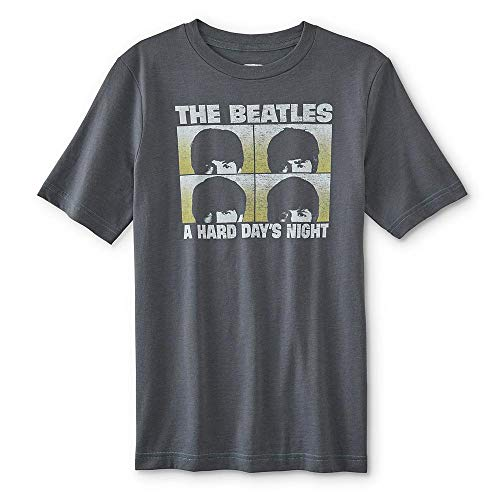 The Beatles Boys Hard Days Night Tee Shirt Size 10-12 Gray