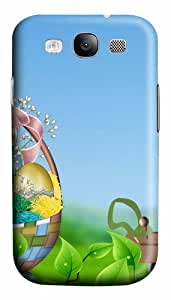 Easter Basket Green Leaves Custom Polycarbonate Hard Case Cover for Samsung Galaxy S3 SIII I9300