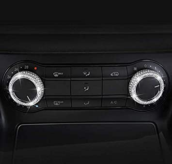 YUWATON Car Interior Bling Accessories for Mercedes-Benz Bling A B Class CLA GLA GLE GLS GLK ML CLS Car Air Conditioner Knob Cover for A B Class GLA CLA