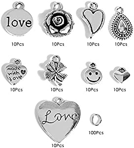 Sweepstakes: DIY Jewelry Making Charms Kit – 90Pcs Charm…