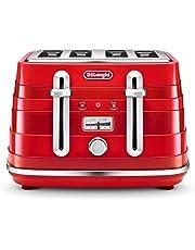 De'Longhi Avvolta Red 4 Slice Toaster 4 Slice Toaster, Red, CTA4003R
