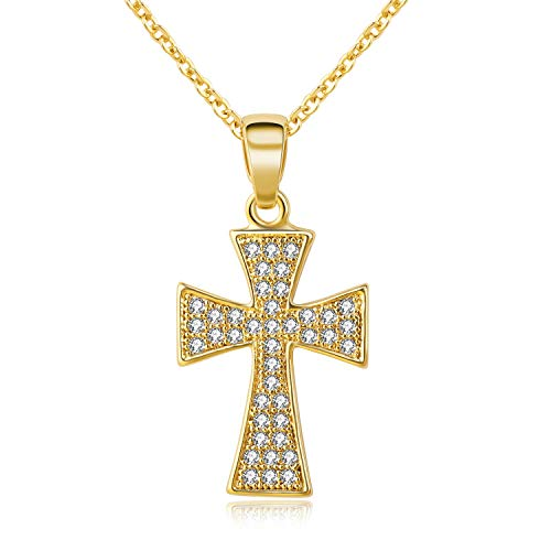 Kruckel You are My Lord, Jesus Christ, King of Kings, Wonderful, Counsellor, Mighty God, Everlasting Father, Prince of Peace  Champaign Gold Plated Necklace Made with  Zircon  - NXS0050