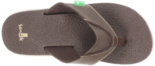 Cozy Sanuk Brown Homme Beer Sandales HwCzq