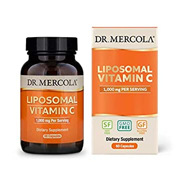 Dr  Mercola, Liposomal Vitamin C 1,000mg per Serving, 30 Servings (60  Capsules), Non GMO, Soy-Free,