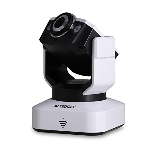 AUSDOM 1280*720P HD 1.0MP Wireless IP Pan/Tilt/ Night Vision Internet Surveillance Camera Built-in Microphone with Phone Remote Monitoring