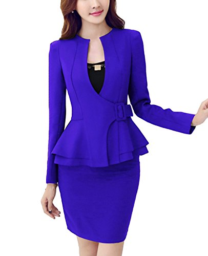 Womens 2 Piece Skirt Suit - 2