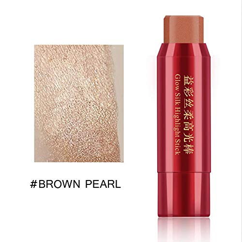 White And Brown Highlighter Bronzing Makeup Stick Shimmer Brighten Skin 3D Face Contouring Pen Highlighting Concealer Cosmetics